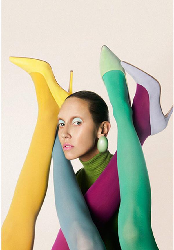 carlijn jacobs vogue neon collection fashion feraggio