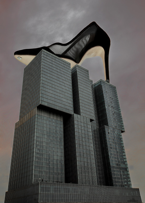 black mesh heels pumps stilettos suede summer shoes stand tall walk longer heel the world de rotterdam rem koolhaas canal erasmusbrug