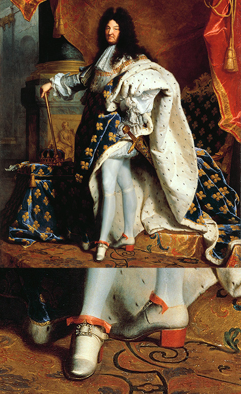 louis xiv red shoes