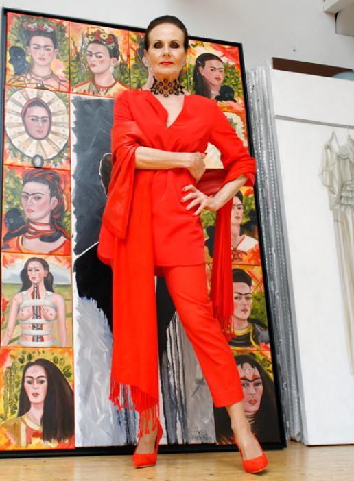 Ans Markus Rood Red Heels Hakken Pumps Schilder Schilderes Red look Comfortable Comfy high heels