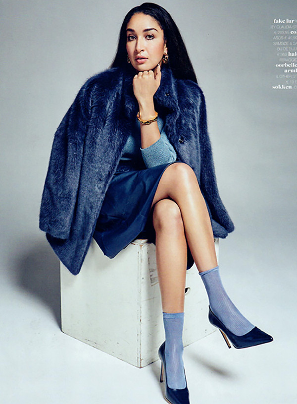 Linda, eten is het nieuwe roken, Soundos El Ahmadi, blauw, donker blauw,old navy blue, blauw, navy, leather