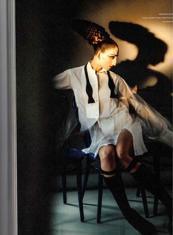 mirrormirror magazine deep black model feraggio