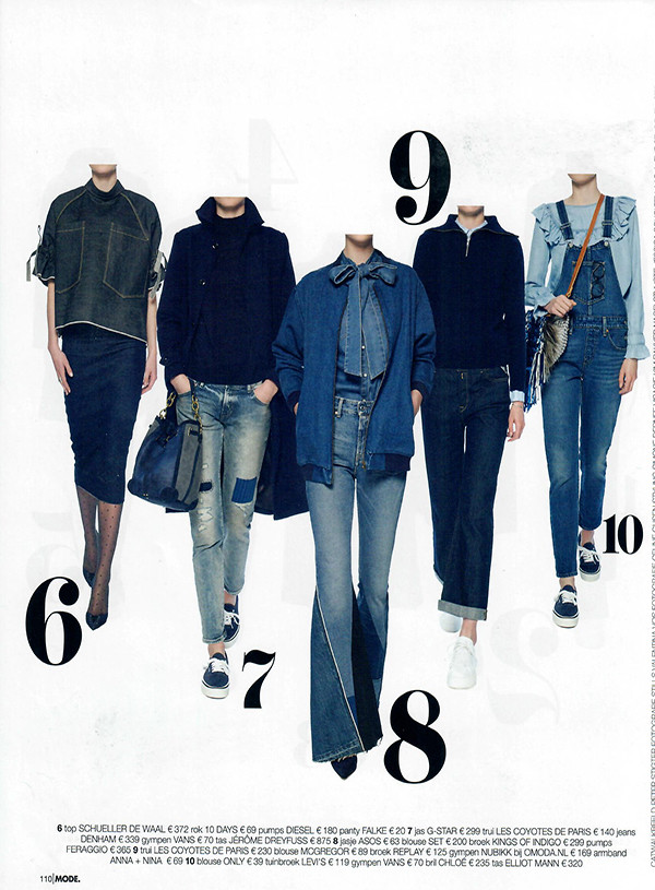Linda mode, Linda de Mol,Dark Denim, Denim, Jean, Blue, Blauw