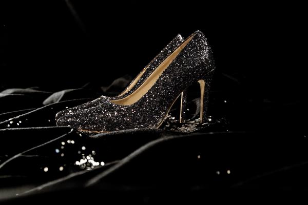 heels glitter