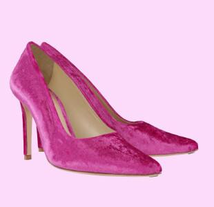 Pink Ribbon Velvet 10CM