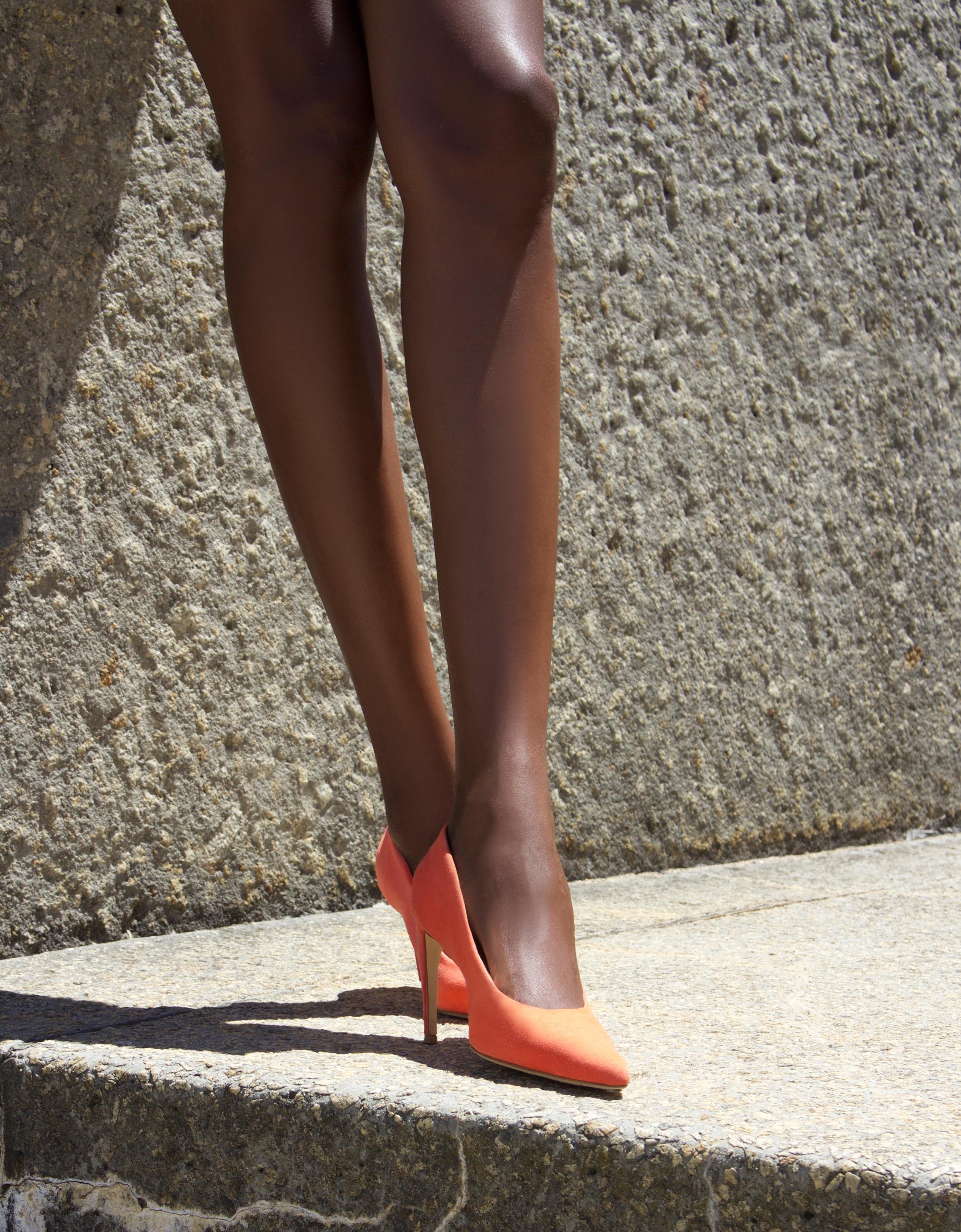 red orange feraggio high heels comfy comfortable pumps stilettos pony hair print high end quality handcrafted craftsmanship sale
